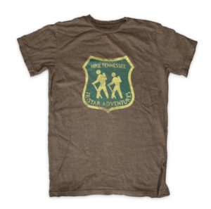 Tristar Adventures hike tennessee badge brown shirt instagram