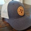 Navy Tristar Leather Patch Trucker Cap Adventures Tennessee