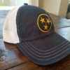 Relaxed fit navy gold white tristar hat cap adventures tennessee 1