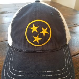 Relaxed fit navy gold white tristar hat cap adventures tennessee