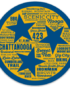 Tristar Destinations Chattanooga Blue and Gold Adventures Decal