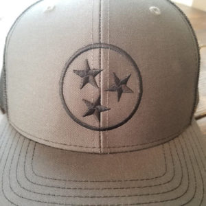 Charcoal and Black Tristar Hat 2