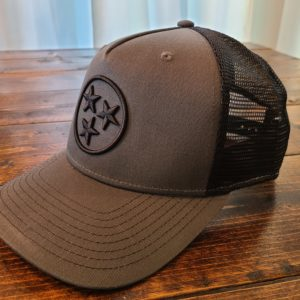 Charcoal and black tristar adventures hat cap tennessee