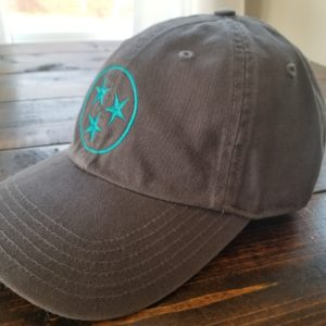 Dad Cap Tristar Adventures Grey Teal Tennessee Hat