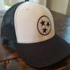White and Black Tristar Adventures Trucker Hat