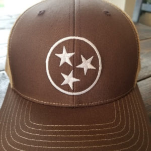 Brown and Khaki Tristar Hat 2