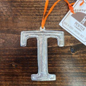 Tennessee Orange T Pewter Ornament