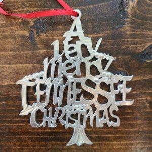 Very Merry Christmas Tennessee Pewter Christmas Ornament Gatlinburg