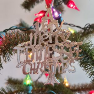 Very Merry Tenneseee Ornament Christmas Pewter Ornament
