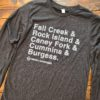 Tristar Adventures long sleeve state parks shirt Charcoal Black
