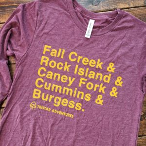 Tristar Adventures long sleeve state parks shirt Maroon Triblend